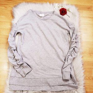 Caslon Gray Long Sleeve Top Small Comfort Stretch